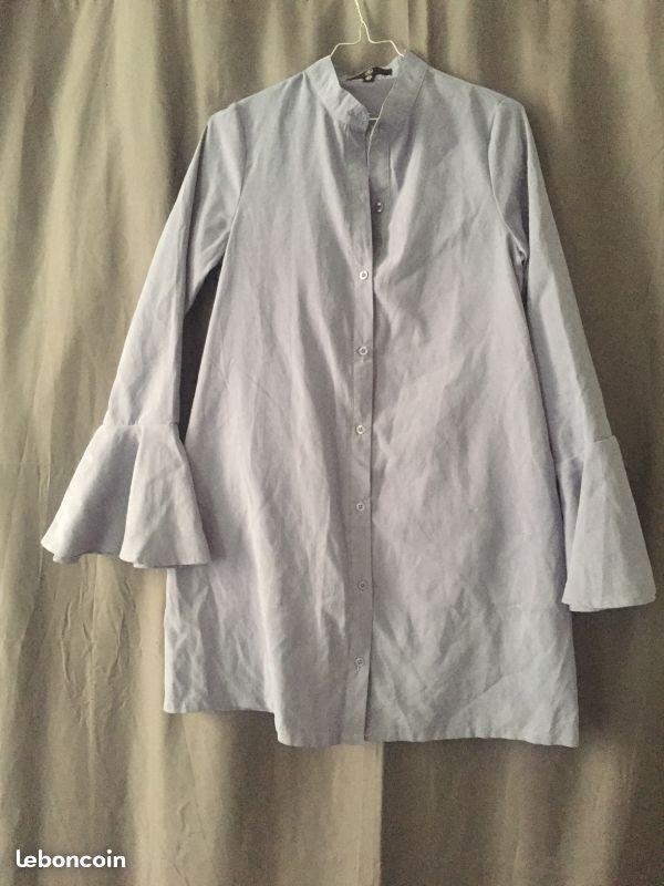 Lestendancesdelilou – Robe bleue/gris MissGuided  – 18 €